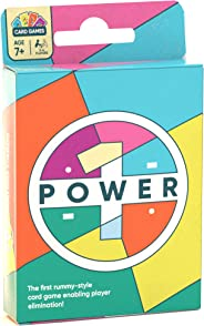 POWER1 Rummy Style Family Card Game   Party Deck with Levels of Play for Kids & Adults