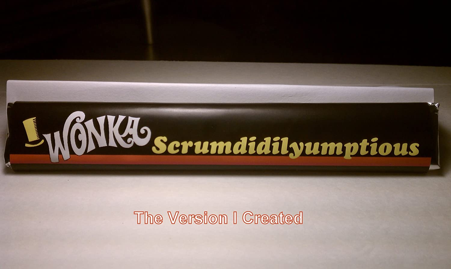 Milk Chocolate-Willy Wonka Scrumdidilyumptious Chocolate Bar-1.65 ...
