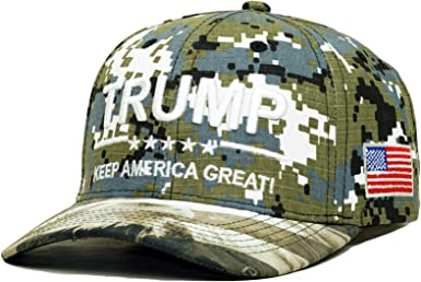 Black-TRUMP 2020 With EAGLE on Flag KEEP AMERICA GREAT-3D Embroidery