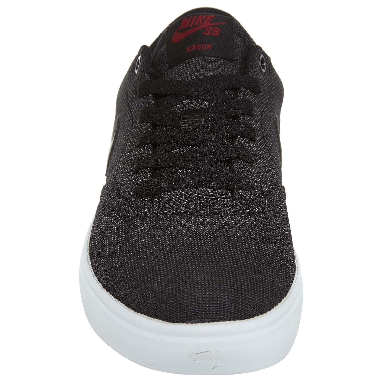 NIKE Men's SB Check Solar CNVS Skate Shoe B01K3PJAXE 9 D(M) US|Black Black Team Red
