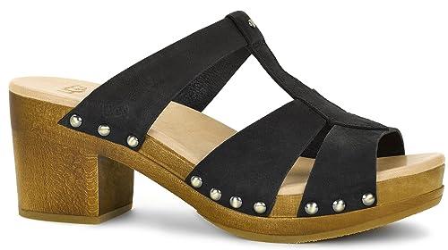 9207ff55491 UGG Women's Jennie Black Nubuck Sandal: Amazon.co.uk: Shoes & Bags