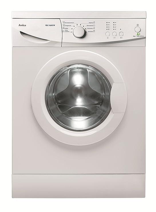 Amica WA 14640 W Waschmaschine FL/A+ / 196 kWh/Jahr / 1000 UpM / 6 kg / 9240 L/Jahr/Elektronisch mit 8 Haupt-Programmen / 2 Z
