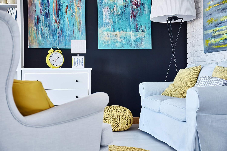 11 x 22 cm cer/ámica 40 W Lussiol 233768 color azul//amarillo L/ámpara de noche decorativa