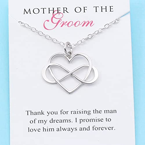 Amazon mother of the groom sterling silver infinity heart mother of the groom sterling silver infinity heart infinite love necklace personalized future aloadofball Image collections