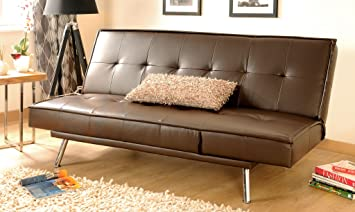 Fabulous Comfy Living Faux Leather Sofa Bed Multi Function 3 Seater Lamtechconsult Wood Chair Design Ideas Lamtechconsultcom