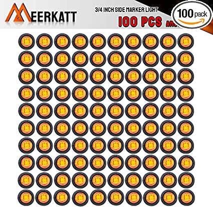 """10 Led Light 3 Diode Red 3//4/"""" Button Marker Light Clearance Light Dim /& Bright"""