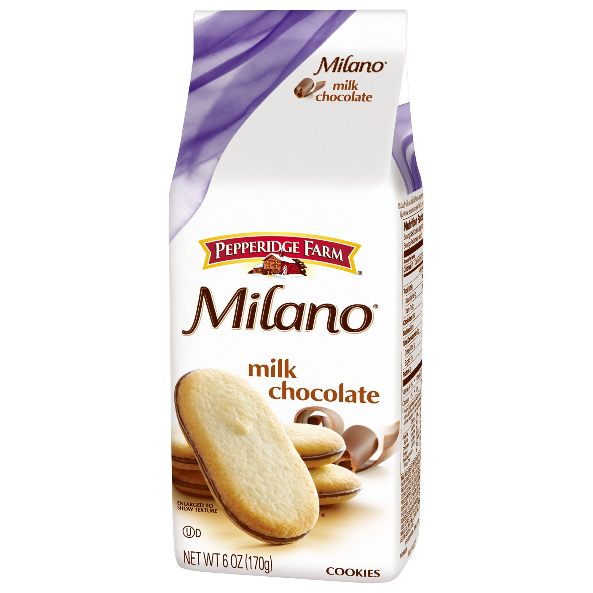 Pepperidge Farm Milano Milk Chocolate Cookies 6 oz. (Pack of 4)