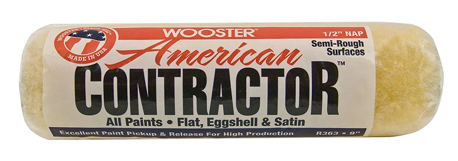 Wooster Brush R363-9 9-Inch American Contractor Roller with 1/2-Inch Nap, Side Stack The Wooster Brush Company R563-9