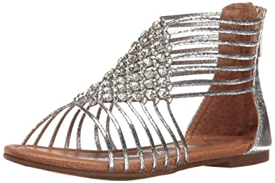 96613a244edd NINA Girls  karlee Gladiator Sandal Silver 7 M US Toddler