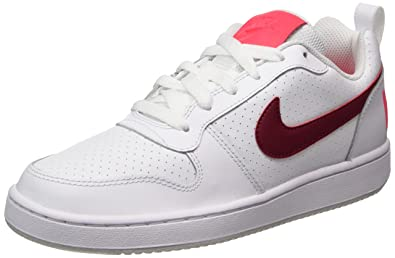 competitive price 072eb 97367 Nike Court Borough Low Sneakers Basses Femme, Blanc (White/Noble Solar Red-
