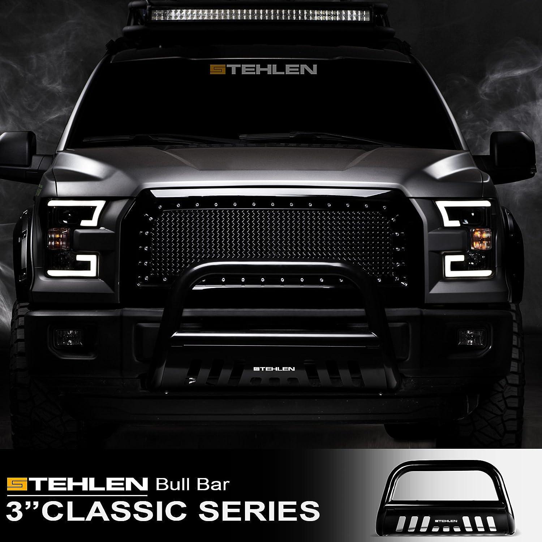 Stehlen 714937181809 3 Classic Series Bull Bar Black For 2005-2010 Hummer H3