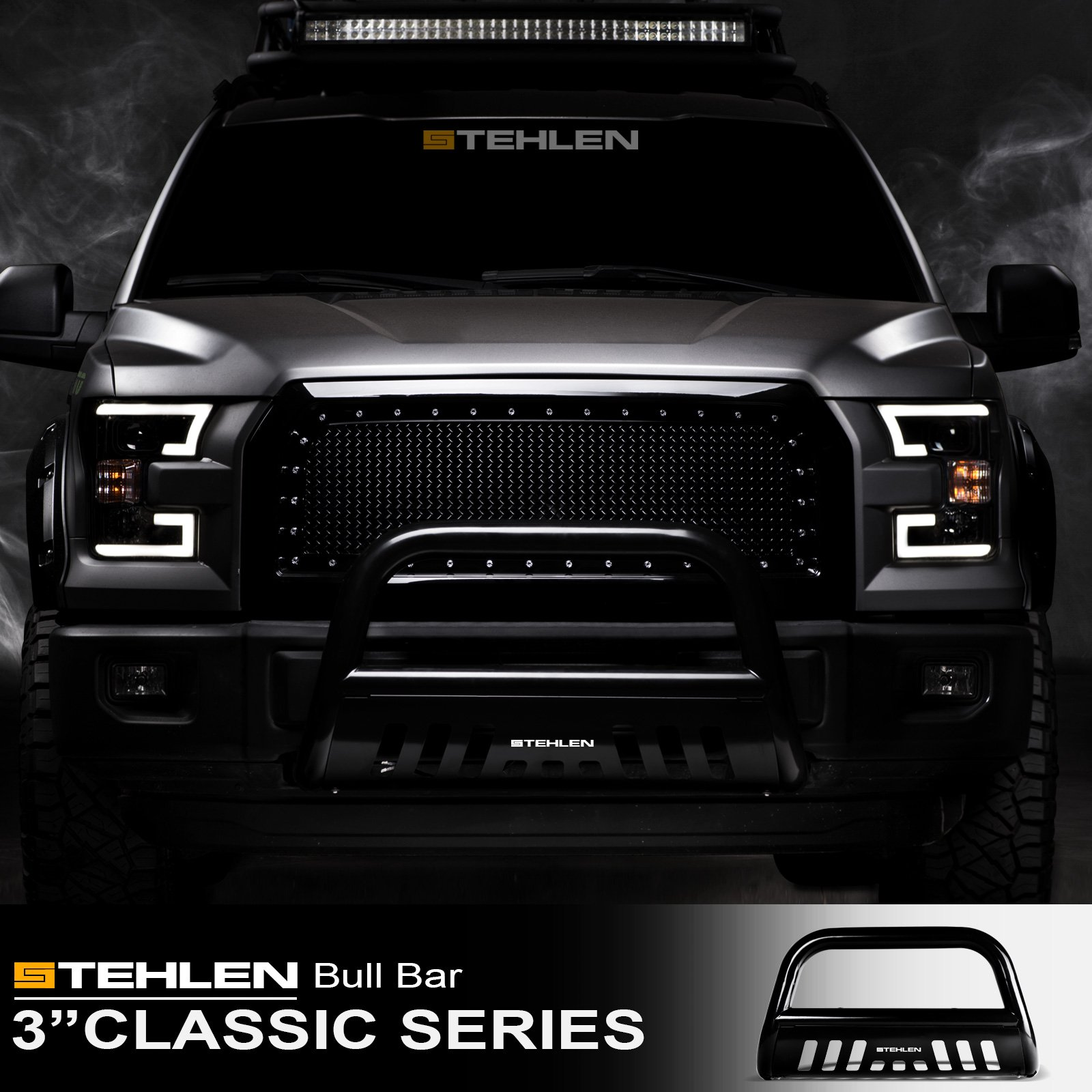 """For 2005-2007 Nissan Pathfinder//05-19 Frontier 3/"""" Bull Bar Grille Guard Texture"""