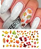 "Autumn - Fall Leaves Water Slide Nail Art Decals Set #2 - Salon Quality 5.5"" X 3"" Sheet!"