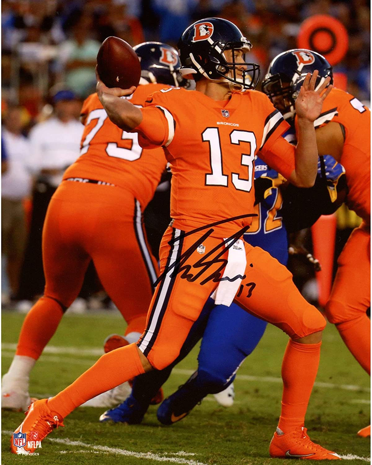 Trevor Siemian Denver Broncos Autographed 8' x 10' Color Rush Photograph - Fanatics Authentic Certified