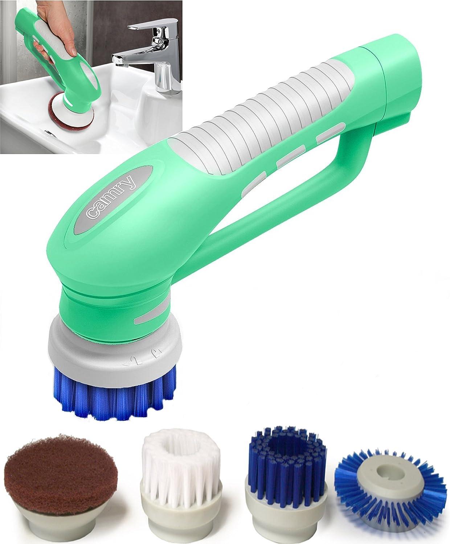 Scrubber Bürste für Küche & Badezimmer Elektrische Hand Reinigungsbürste  Mit Bürstenaufsätzen Wasserdicht IPX18 Akku betrieb