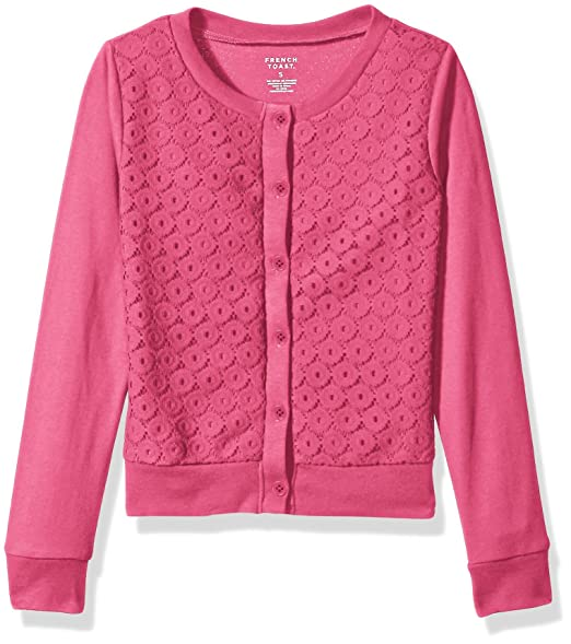Amazon.com  French Toast Girls  Little Lace Front Cardigan 222dfb157