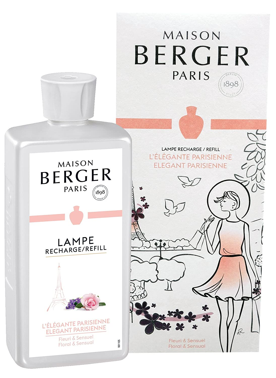 Amazon.com: Lampe Berger Fragrance, 500ml/16.9 fl.oz, Elegant ...
