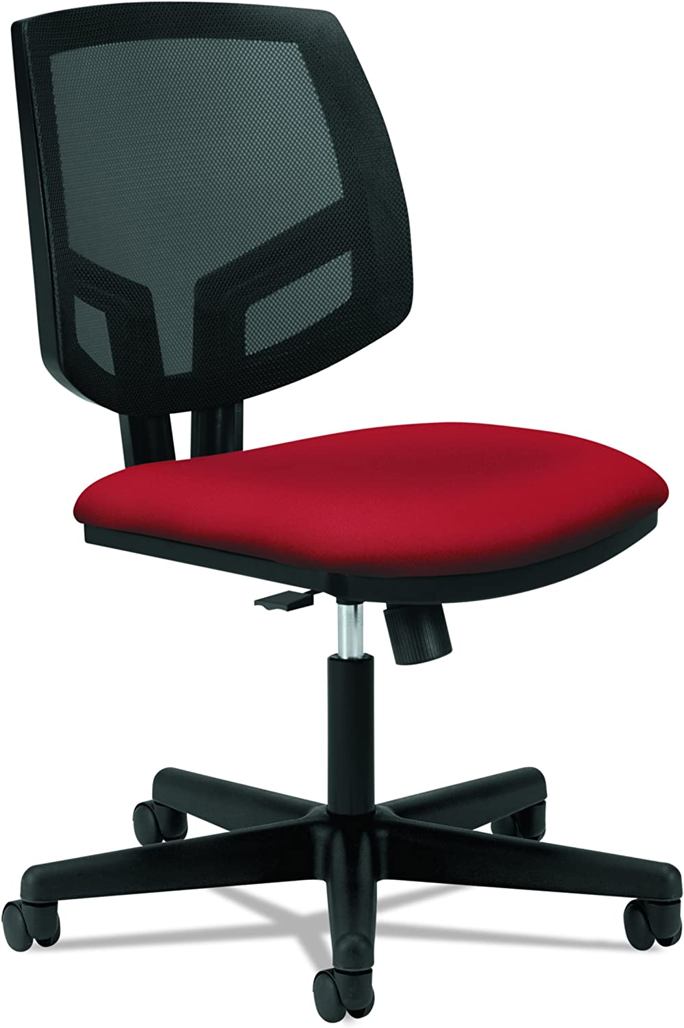 HON Volt Leather Task Chair - Mesh Back Computer Chair for Office Desk, Crimson (H5713)