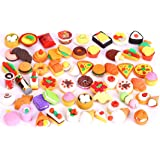 30 PCs Joanna Reid  Collectible Set of Adorable Puzzle Sweet Dessert Food Cake Erasers for Kids - No Duplicates - Puzzle Toys
