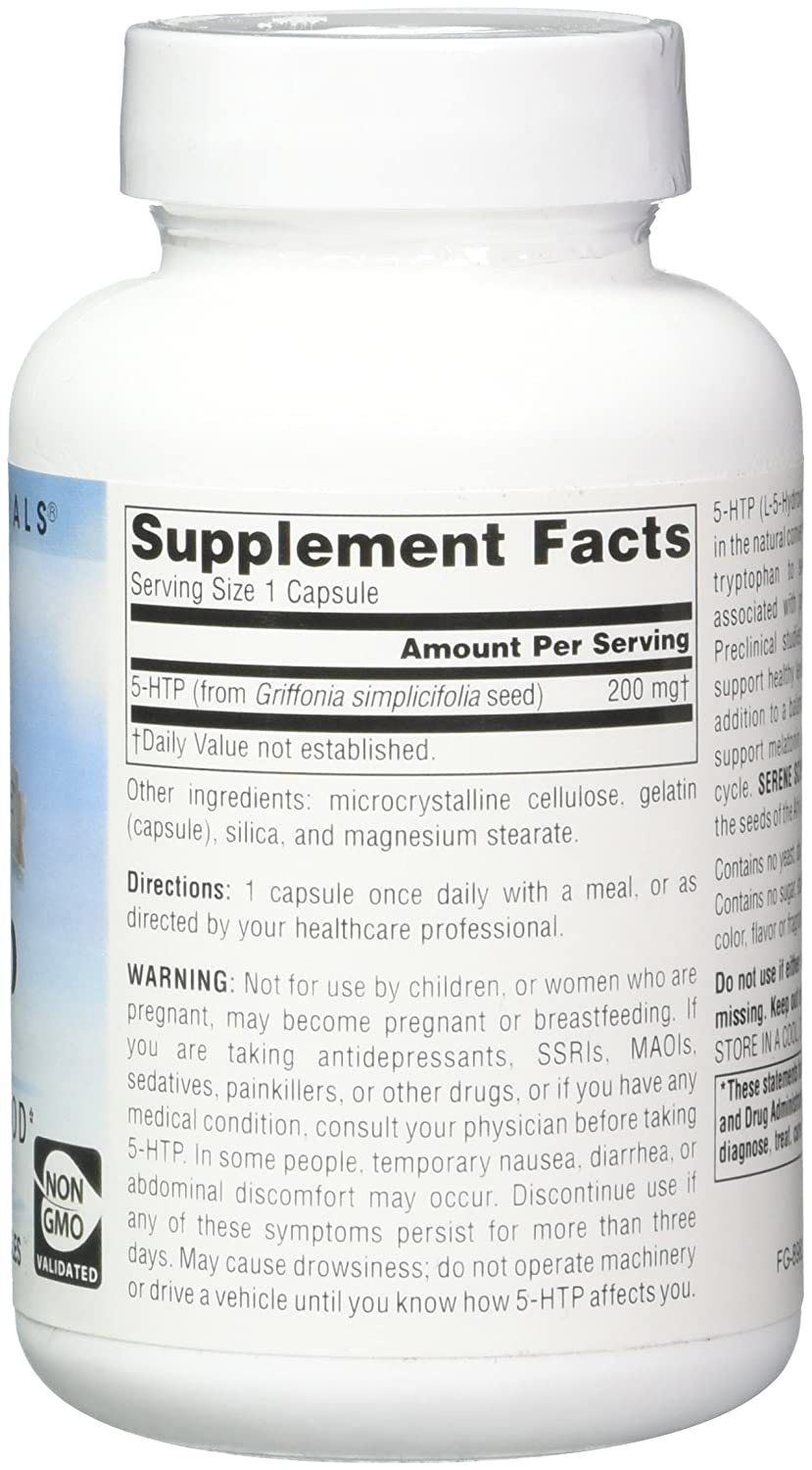Amazon.com: SOURCE NATURALS Serene Science 5-HTP 200 Mg Capsule, 60 Count: Health & Personal Care