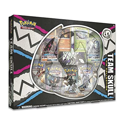 Pokemon TCG: Team Skull Gx Pin Box | 4 Foil Promo Cards | 5 Booster Packs: Toys & Games
