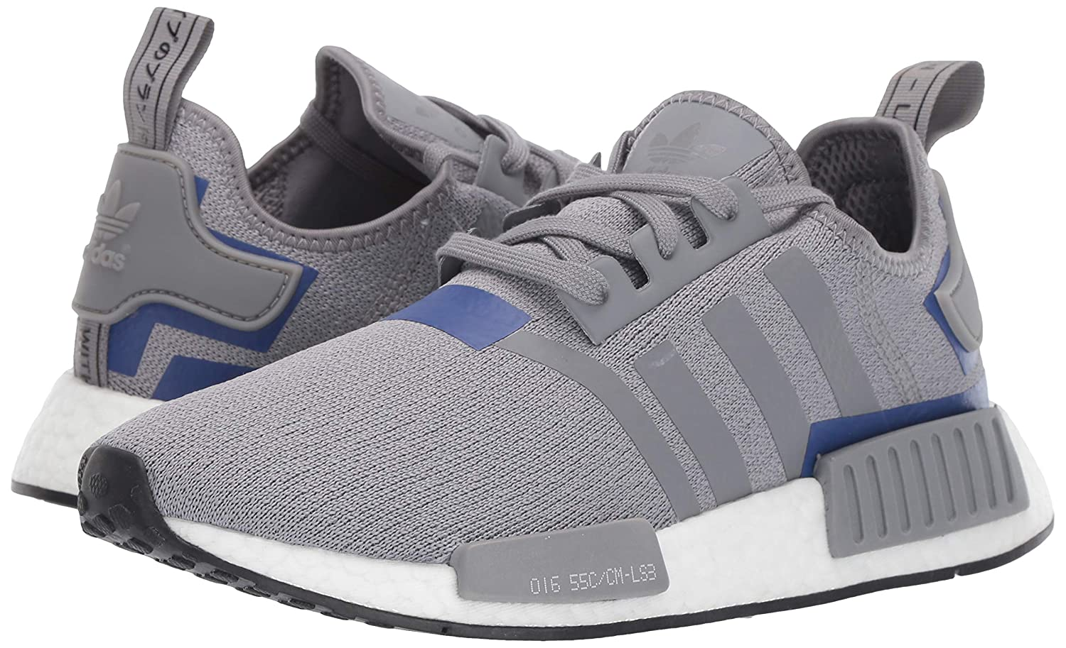 adidas Originals Men's NMD_R1 Running Shoe GreyActive Blue, 10 M US