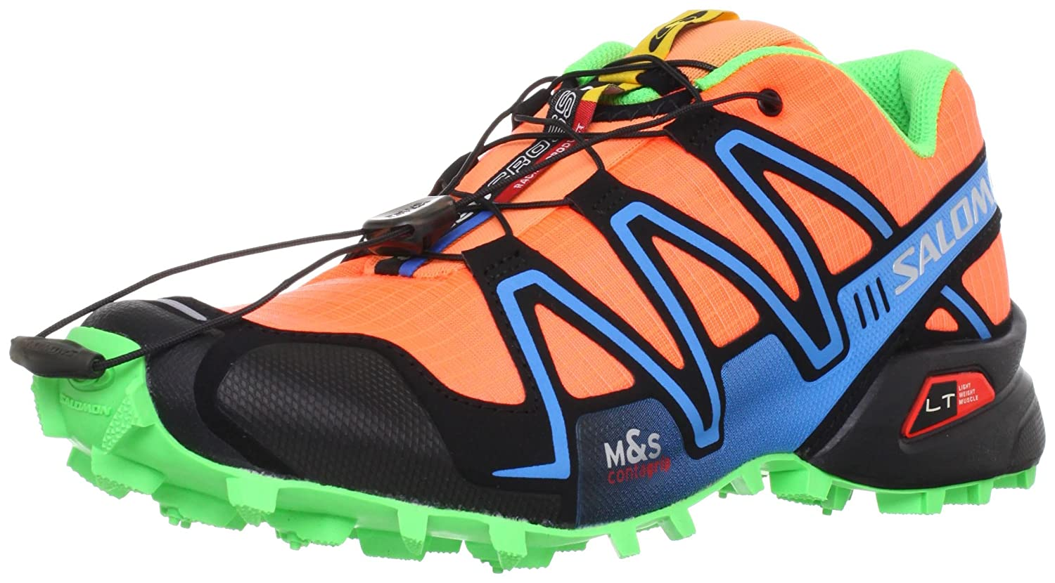 Salomon D(M) Men's Speedcross 3 Trail Running Shoe B008JEW0W0 12 D(M) Salomon US|Flou Orange/Fluo Blue/Fluo Green d5b381