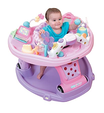Kolcraft Baby Sit and Step 2-In-1 Activity Center, Pink (Discontinued
