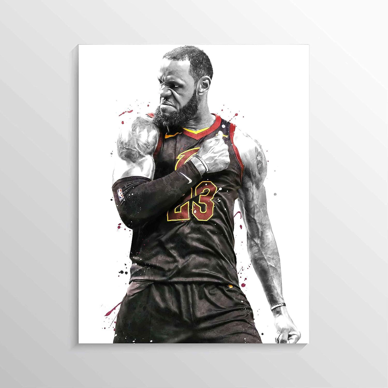 LeBron James Print, LeBron James Poster, CAVS Poster, Basketball Wall Art, Basketball Decor, NBA Poster Print, Watercolor Basketball Print
