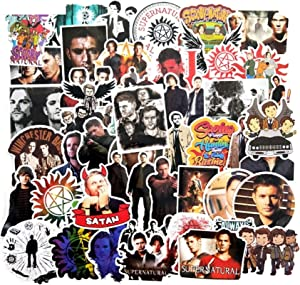 51 Pcs Supernatural Waterproof Stickers for Car Luggage Cool Laptop Decal Stickers Fashion Bedroom Decoration