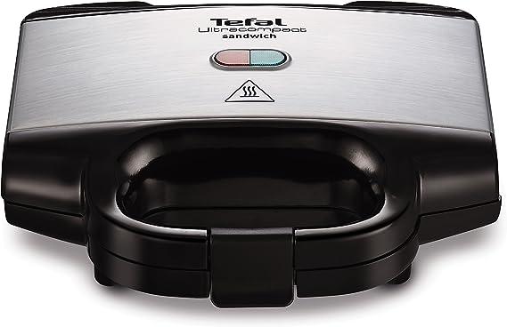 Tefal Ultracompact Sandwichera, 700 W, Negro/Plateado: Amazon.es ...