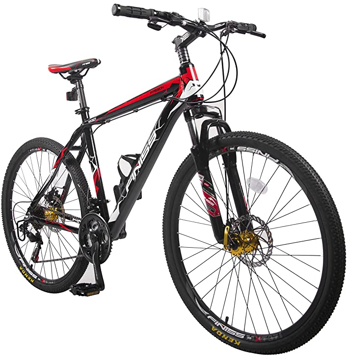 Merax® Finiss 26 inches aluminum 21 speed mountain bike with disc brakes