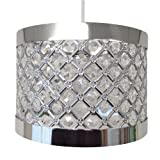 Easy Fit Moda Sparkly Ceiling Pendant Light Shade Fitting Modern Decoration