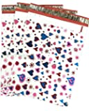 """10x13 (100) Blue Pink Hearts Designer Poly Mailers Shipping Envelopes Boutique Custom Bags By ValueMailers (10"""" X 13"""")"""