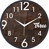JaipurCrafts Designer Antique Plastic Wall Clock for Home/Living Room/Bedroom/Kitchen- 12 in (with Ajanta Movement)