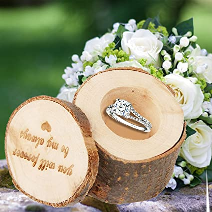 Amazon Com Kangkang Wooden Wedding Ring Box You Will Forever Be My