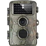 SHOOT トレイルカメラ 人感センサー 防犯カメラ 1200万画素 1080P フルHD 60°検知範囲 監視カメラ 2.31インチLCD 防水防塵 不可視赤外線LEDライト搭載 動き検知