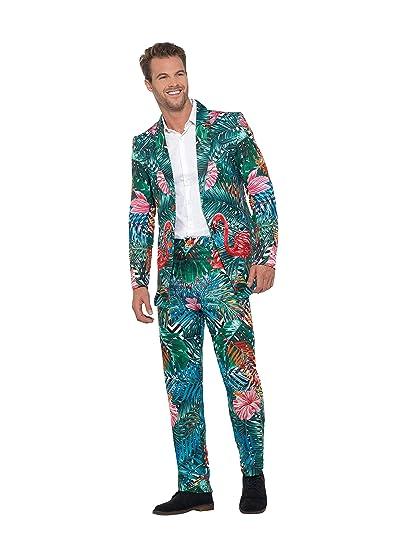 Smiffys 40342M - Traje de flamenco hawaiano tropical para hombre, multicolor, mediano, 96,5-101,6 cm