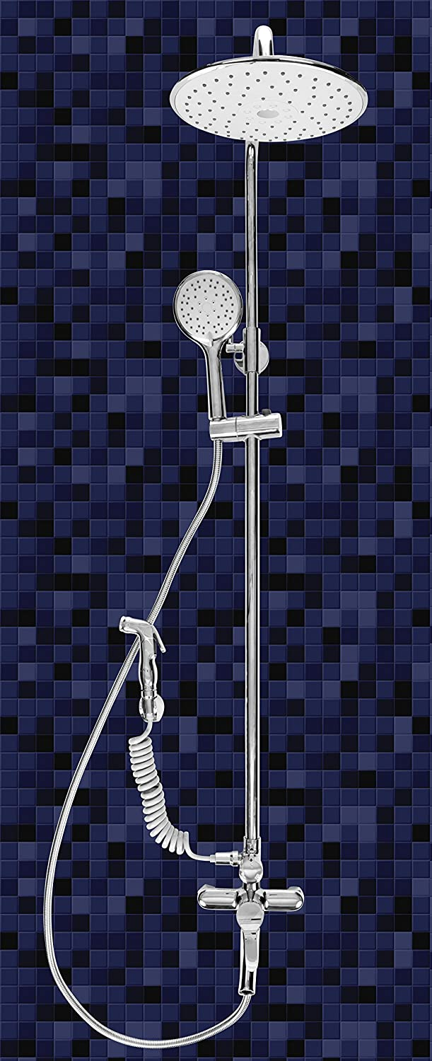 Rainfall Wall Mounted Bathroom Shower Faucet System Set with Hand ...