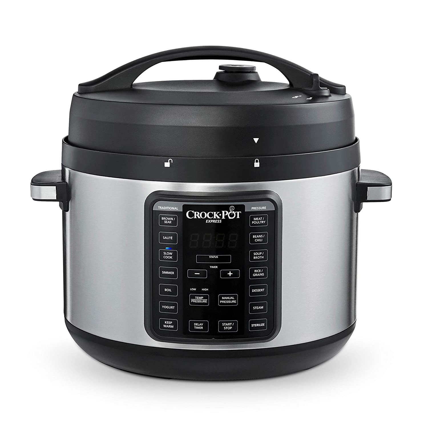 Crock-Pot 2097588 10-Qt. Express Crock Multi-Cooker with Easy Release Steam Dial, 10QT, Stainless Steel