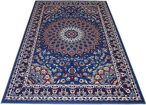 WEBTAPIS Tapis Pas Cher Style Persan - Tapis Classique Couleur Azur Royal  Shiraz 2082-LIGHT Blue 200x300