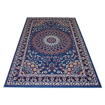 Webtappeti It Teppich Economy Stil Perserteppich Klassisch Blau