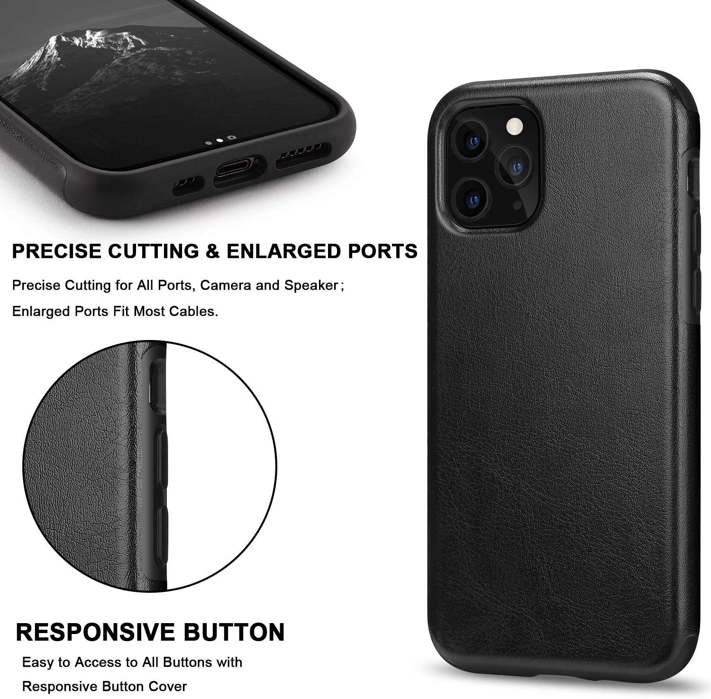 TENDLIN Cover iPhone 11 Pelle Ibrida TPU Custodia Compatibile con