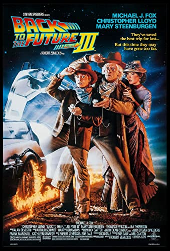 BACK TO THE FUTURE PART III MICHAEL J. FOX STRUZAN ART 1990 ORIGINAL 27X40  DS ONE SHEET MOVIE POSTER ROLLED at Amazon's Entertainment Collectibles  Store