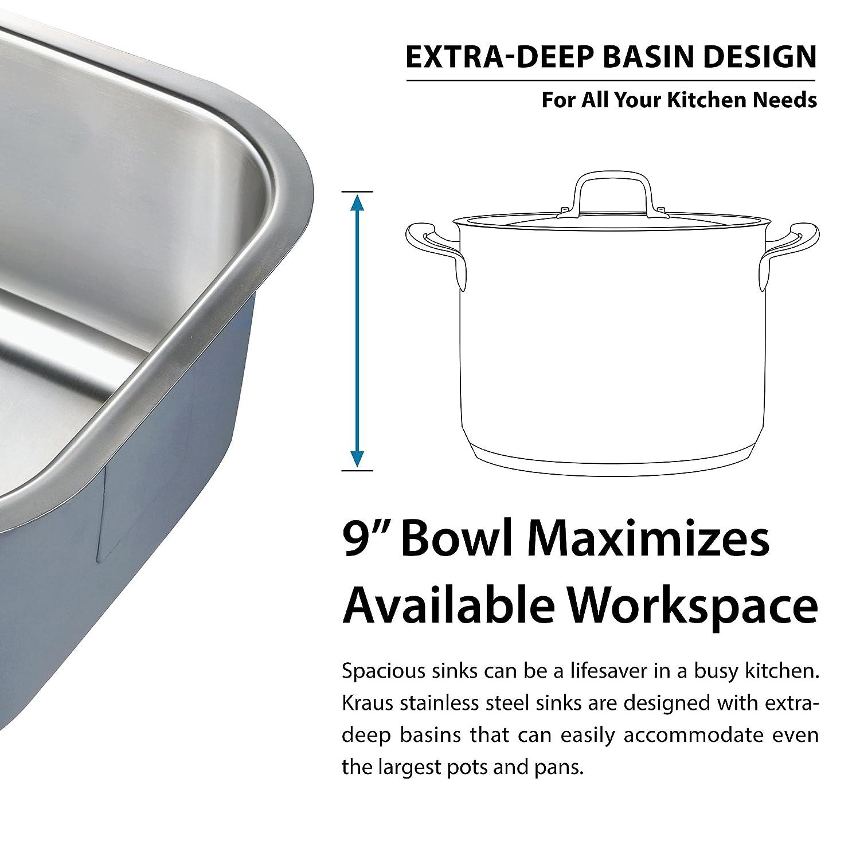 kraus kbu24 32 inch undermount 60 40 double bowl 16 gauge