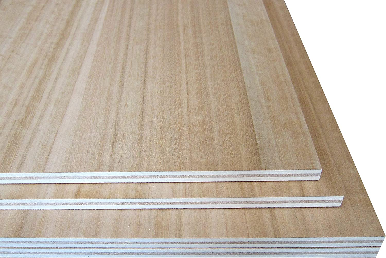 Contrachapado Fenólico de Okume, WBP, Tableros de Madera para Exterior, Mesas, Muebles. Corte a Medida: (Grosor 1cm, 120 x 80 cm - Pack 3uds)