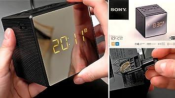 9c2d08e65ae Rádio Relógio Icf-c1 Sony Fm am 220V Preto Novo! Importado!  Amazon ...