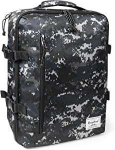 Rangeland Travel Backpack NEW 2020 21L Carry on Daypack Fits 15inch Laptop Notebook and Travel Accessories Meets IATA Flight Standards, Digi Camo