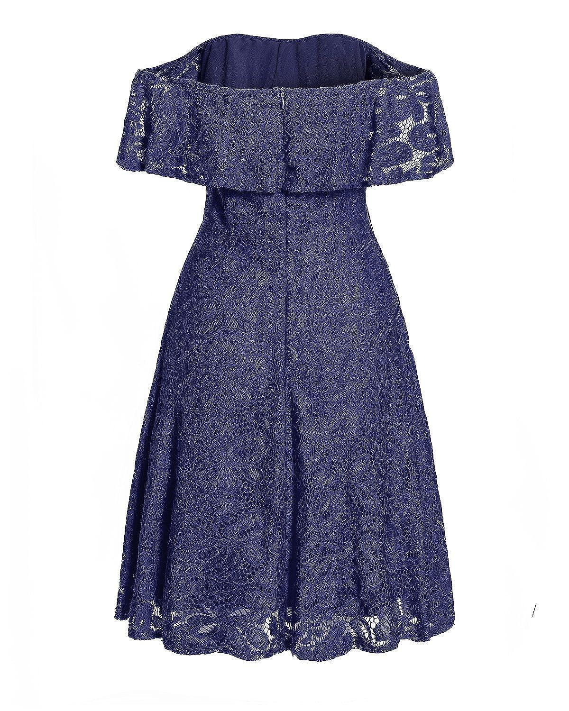 Kidsform Robe Femme de Soir/ée Cocktail d/ét/é R/étro 1950s Chic Mini Robe Courte sans Manche pour Demoiselle dhonneur Rockabily F/ête Vintage