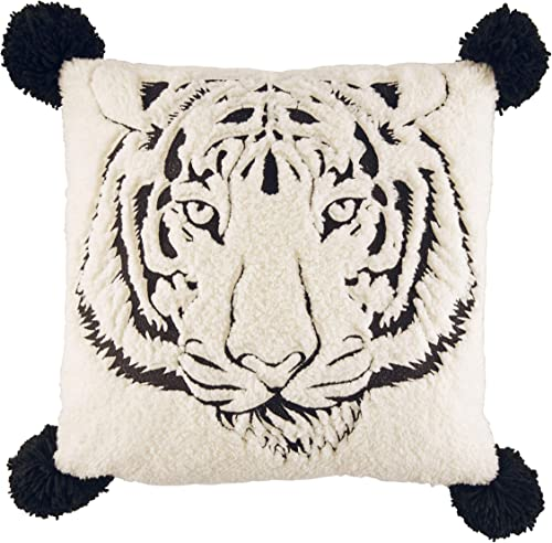 Betsey Johnson Betseys Tiger Throw Pillow, 20 x 20, Black